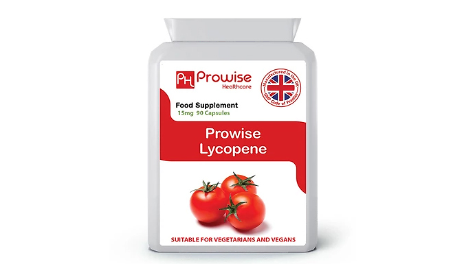 3 Month Supply of Prowise Lycopene 15mg Capsules - 90 Capsules!