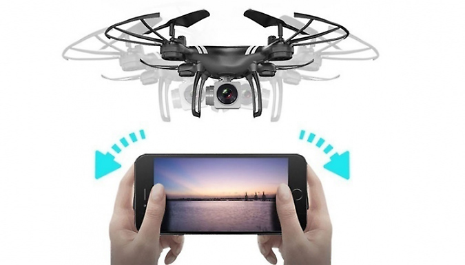 HD Smartphone Drone - Optional Wide-Angle Cameras, up to 4K