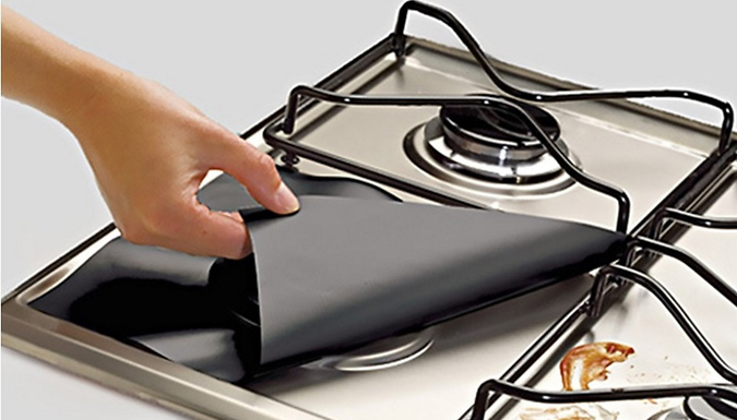 Non-Stick Reusable Stove Hob Protectors - 4 or 8