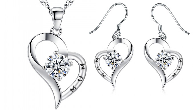 Compare retail prices of 'Mum' Jewellery Set Made with Crystals from Swarovski to get the best deal online