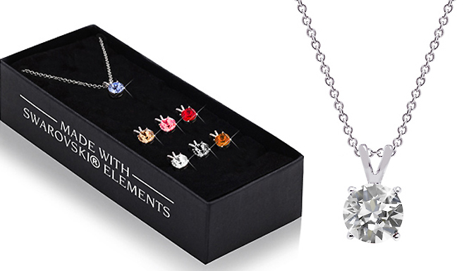 Set of 7 Pendants With Crystals From Swarovski - 7 Colours!