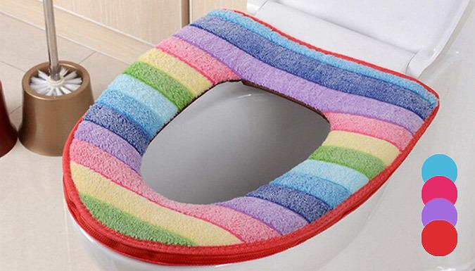 Rainbow Toilet Cushion  4 Colours