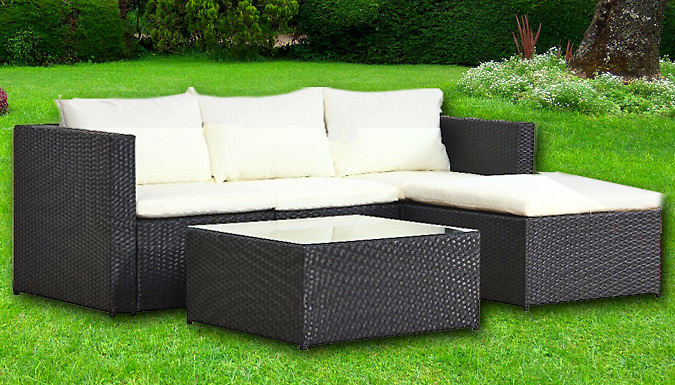 5-Piece Malaga Rattan Sofa Modular Set – 2 Colours (£269)