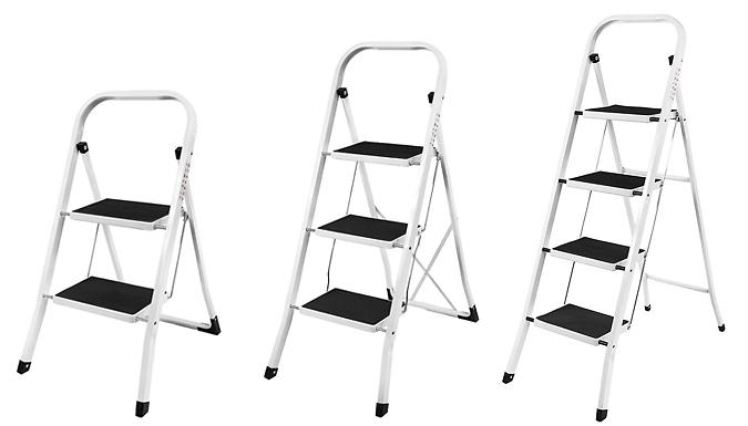 Home Vida Step Ladder With Anti-Slip Mat - 2, 3 or 4 Steps