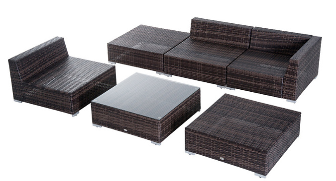 6-Piece Cushioned Rattan Furniture Set (£399)