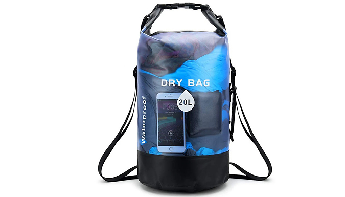 10L or 20L Waterproof Dry Bag Backpack - 2 Colours from Domosecret