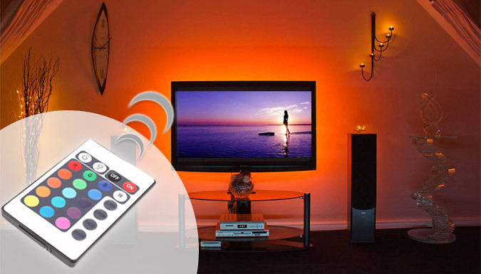 USB Powered Colour-Changing TV Backlight with Remote - 1 or 2