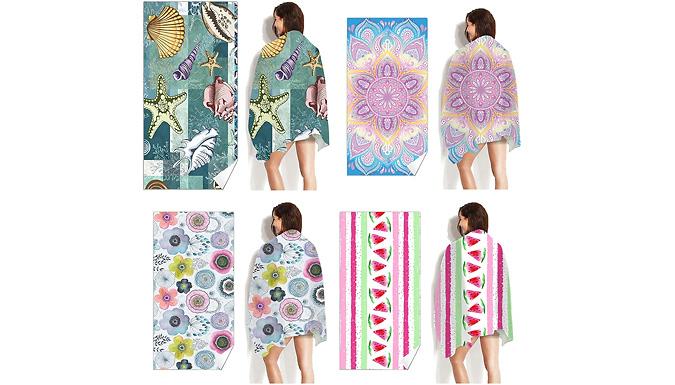 Summer Print Microfibre Beach Towel - 10 Styles from Domosecret