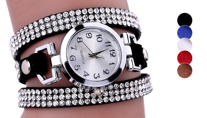 Lyra Wrap Watch Made With Swarovski Elements - 5 Colours