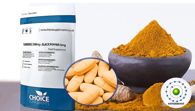 4-Month Supply of Turmeric & Black Pepper Extract Capsules