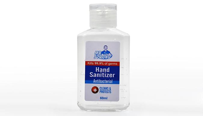 3 or 5-Pack of 60ml Portable Hand Sanitiser Gel from Savvy Sleek
