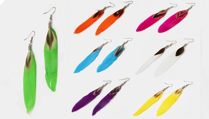 Cheapest price of '7 Days of Summer' Feather Earrings 7-Pack in new is £8.99
