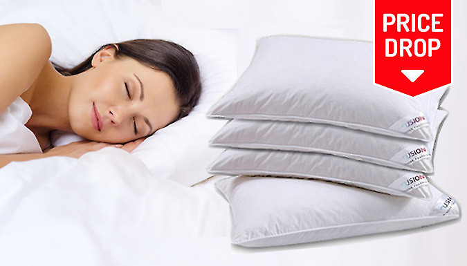 Save on Luxury Goose Feather and Down Pillows - 2 or 4 from Go Groopie