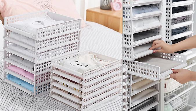 Pack of 5 Detachable Stacking Organiser Racks - 2 Sizes