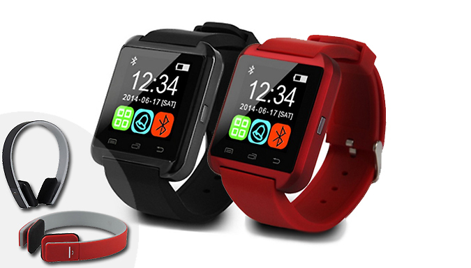Last Chance! - Bluetooth Compatible Smart Watch and Headphones Bundle