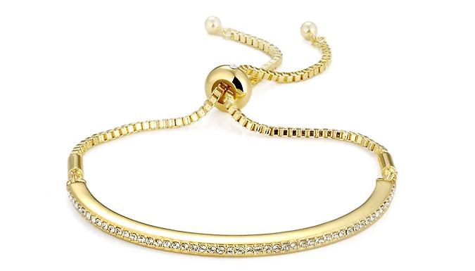 Philip Jones Bracelet Made With Swarovski Crystals - 3 Colours
