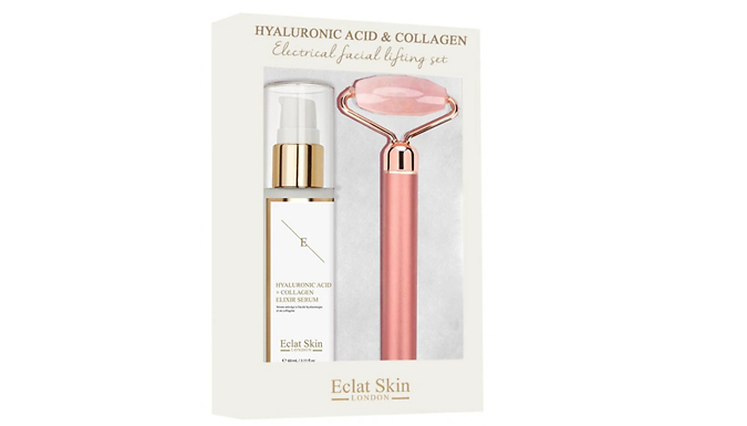 Hyaluronic Acid & Collagen Serum With Electrical Facial Roller