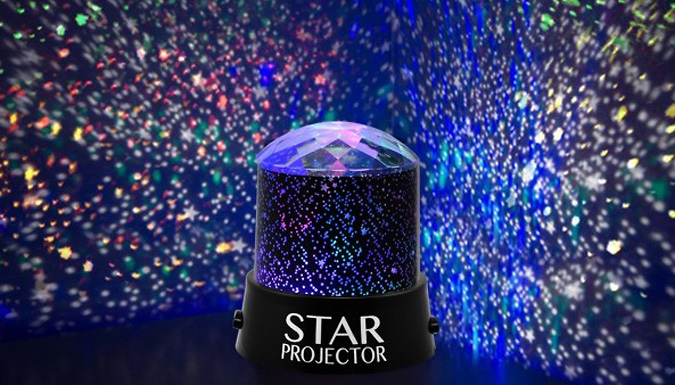 90% Off – Star Projector Mood Lamp – National Deal (£5 at Go Groopie)