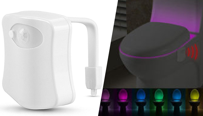 DDDeals - Motion-Activated Toilet Nightlight - 7 Colours!