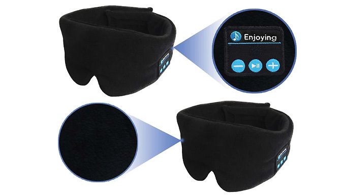 Wireless Bluetooth Eye Mask with Built-in Headset