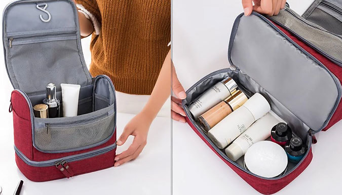 Waterproof Toiletries Bag with Hanging Hook - 5 Colours from Fantasy Supply