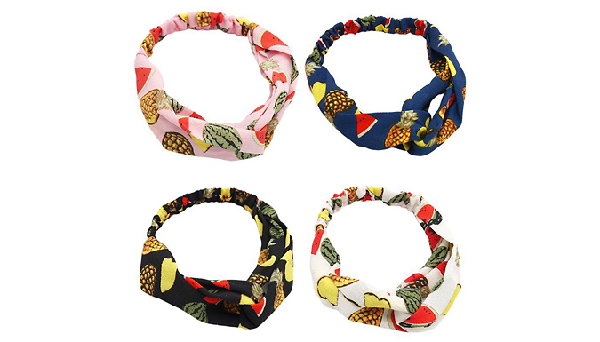10-Pack of Summer Print Twist-Knot Headbands from Domosecret