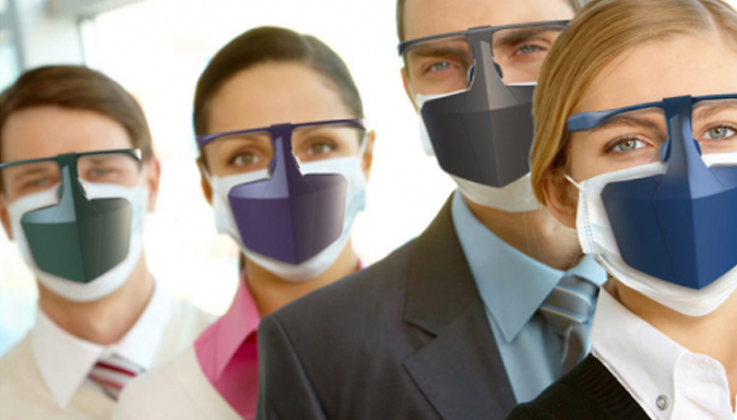 Visor Face Mask - 4 Colours from CN Direct Biz