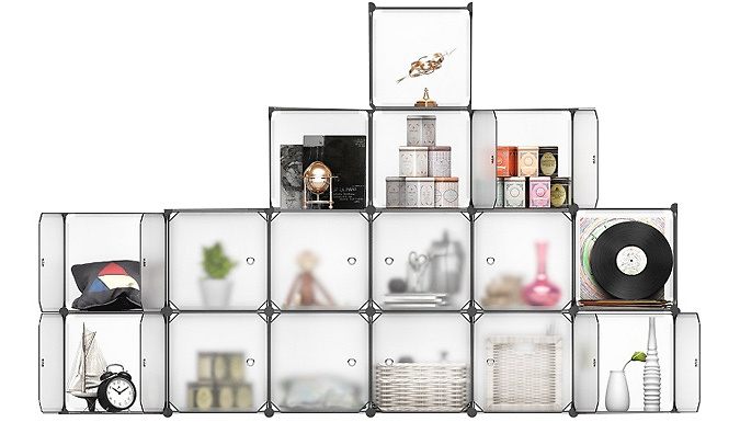 Compare retail prices of 'Stack-It-Up' Smart Shelving Unit - 16 Interconnecting Cubes! to get the best deal online