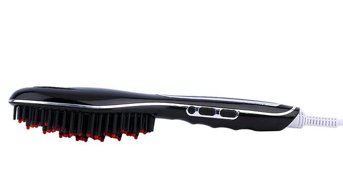 3-In-1 Hair Straightening Brush - 3 Colours