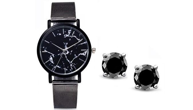 'Dark Attraction' Swarovksi Elements Jewellery Set