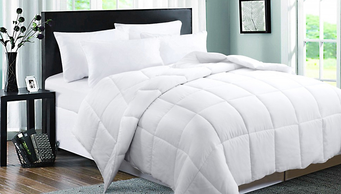 12-Tog Duck Feather & Down Quilted Duvet - 4 Sizes