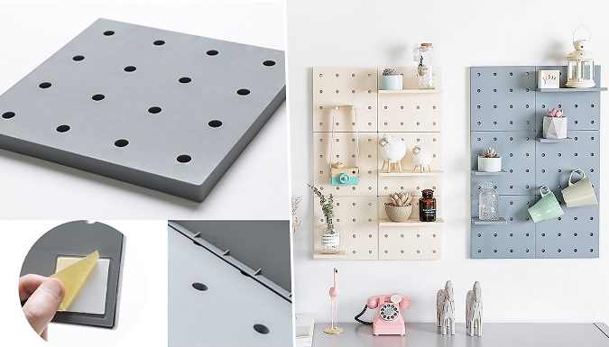 Plastic Wall-Mount Storage Shelf - 3 Colours
