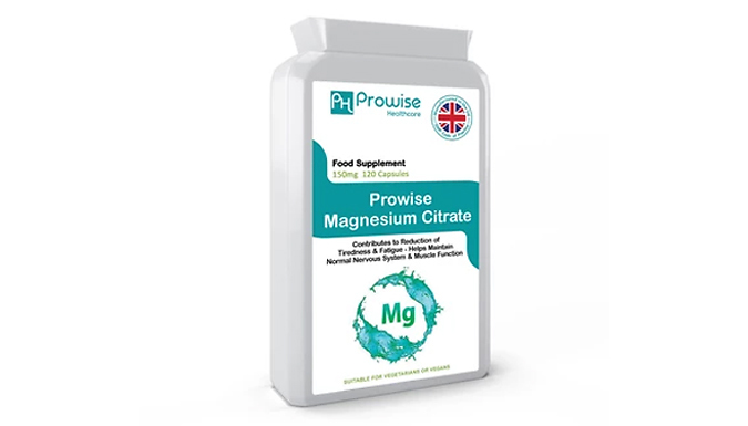 4-Month Supply of Prowise Magnesium Citrate Capsules - 120 Capsules!