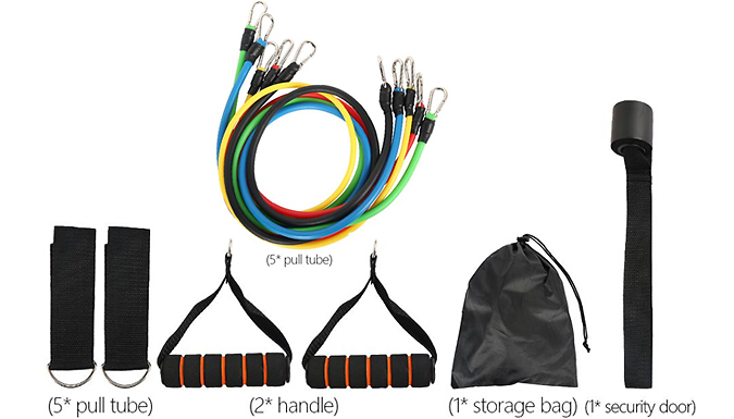 11-Piece Resistance Band Workout Set - Includes 5 Bands from Fantasy Supply