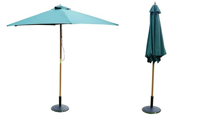2.5m Wooden Parasol – 5 Colours (£27)