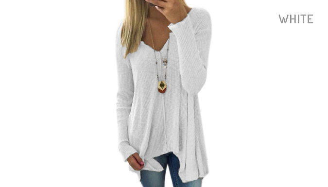 V-neck Sweater Top - 5 Colours