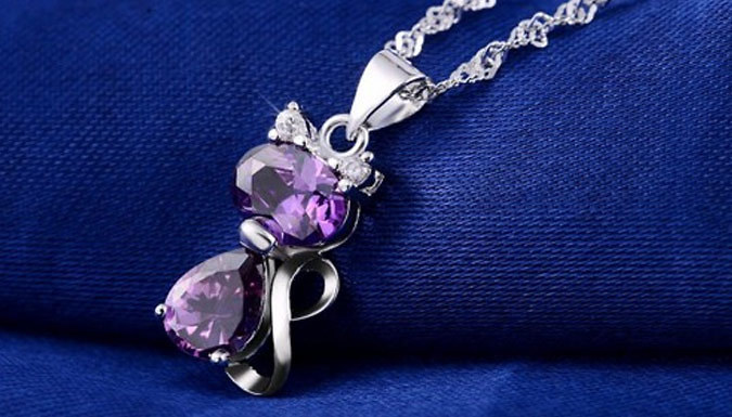 Compare prices for 1.8ct Crystal Cute Cat Necklaces - 2 Colours
