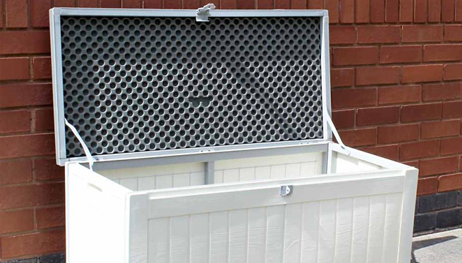 Garden Storage Box With Hinged Lid (£29.99)