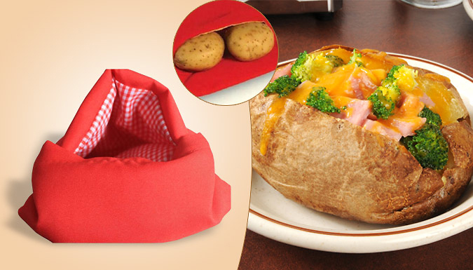 One or Two Microwave Baked Potato Fast Cooking Bags