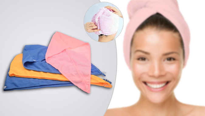 Pack of 4 Super Dry Hair Towels