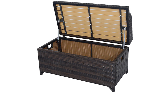 Outsunny 2-in-1 Rattan Storage Bench