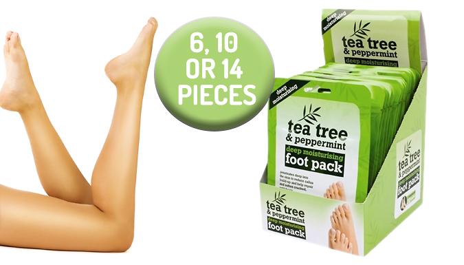 Tea Tree & Peppermint Deep Moisturising Foot Pack - 6, 10 or 14