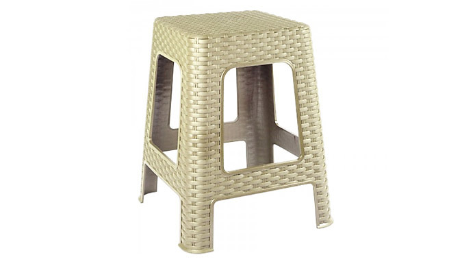 Large Plastic Rattan Step Stool – 4 Colours (£8.99)