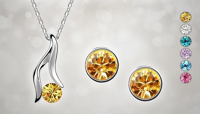 18K White Gold Plated Lelita Crystal Set