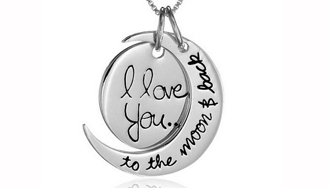 Compare retail prices of 'Love You To The Moon and Back' Necklace - 2 Colours to get the best deal online