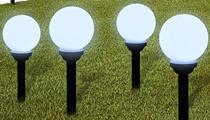 Pack of 2 or 4 Solar Powered LED Garden Ball Lights