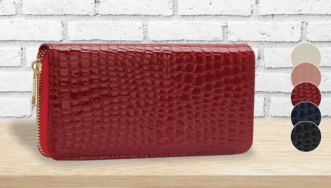 Crocodile Pattern Purse - 5 Colours