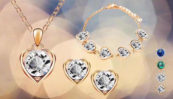 Valentine Heart Jewellery Set; 4 Colours