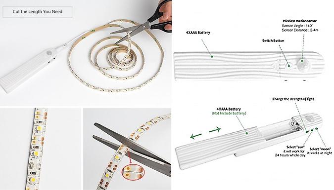 Motion Sensor LED Lamp - 2 Colours