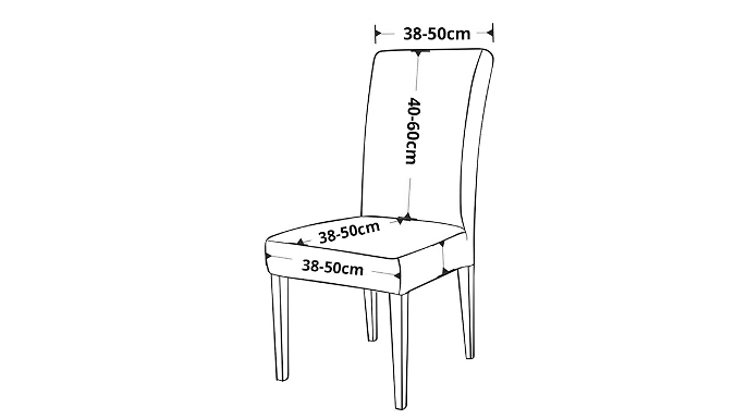1, 2, 4 or 6 Spandex Dining Chair Covers - 15 Colours